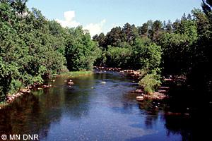 Pine River at county road 36