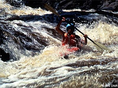 Class V rapids.