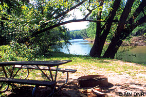 Root River campsite