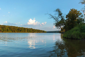 Photo of the river landing located within Wild River State Park.