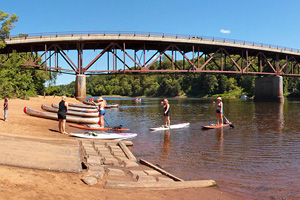 Photo of the paddle-in campsites located along the lower St. Croix River.