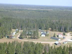 Aerial Image of Norris Camp on the Red Lake WMA