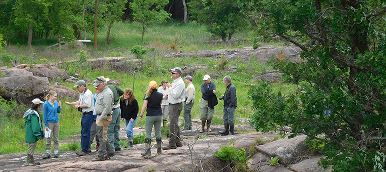 Commissioner's Advisory Committee exploring Swedes Forest SNA