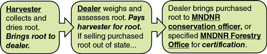 1. Harvester collects and
