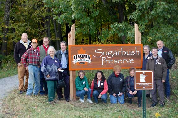 Dedication of Sugarbush Preserve.
