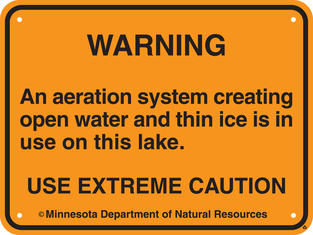Aeration System warning sign