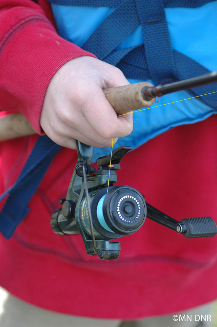 Casting an open-face rod & reel combo