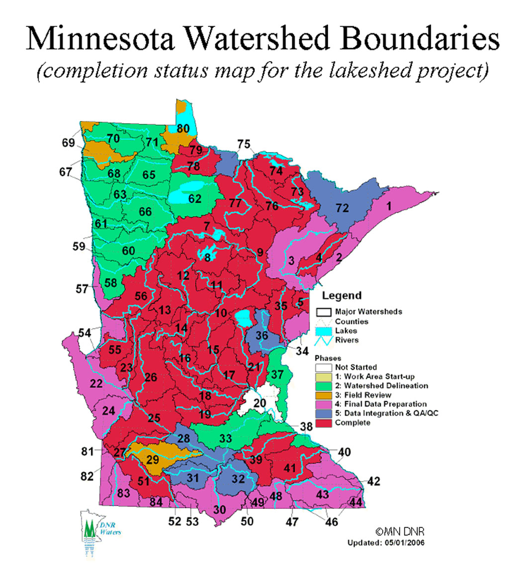 Minnesota Watershed Boundaries