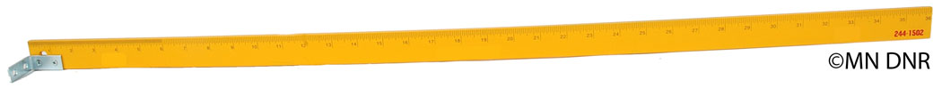 Ruler for measuring ice depth
