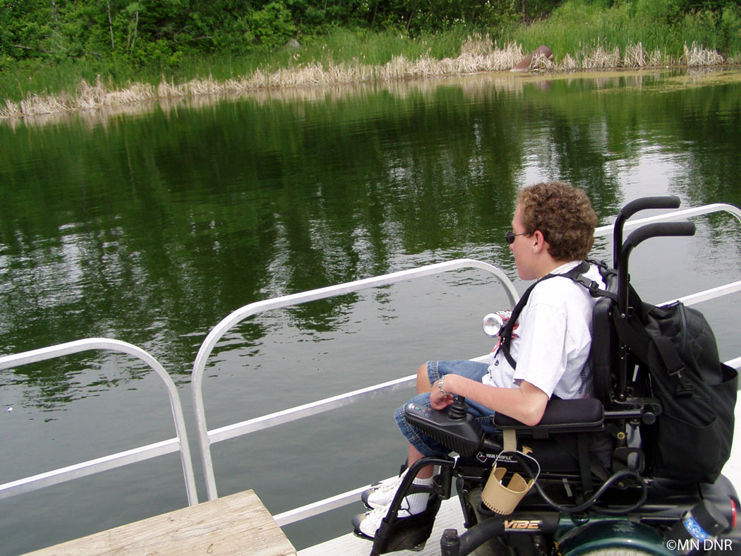 Wheel chair accessible angling
