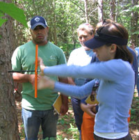 photo: Group using Tree borer