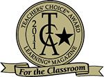 Teachers' choice award from Learing Magazine logo