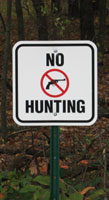photograph of No hunting sign