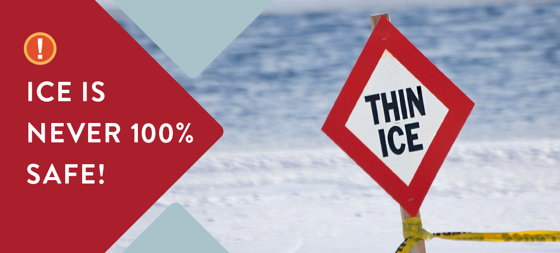 thin ice sign