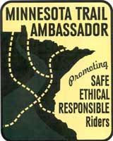 Minnesota Trail Ambassador: promoting safe ethical responsible riders