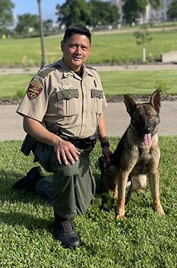 handler and dog