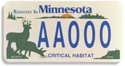 First White-tailed deer license plate