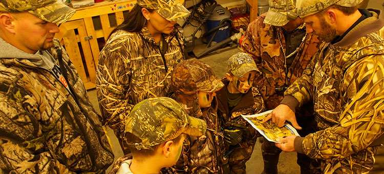Family waterfowl hunt planning