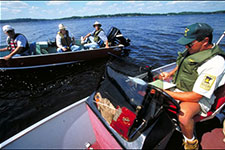 Creel survey on a Minnesota lake