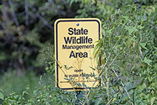 Wildlife Management Area sign