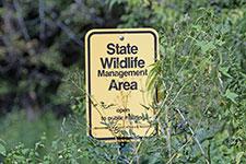 Wildlife Management Area sign