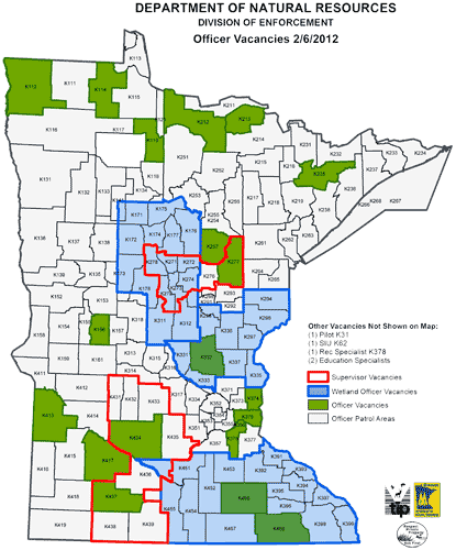 enforcement work areas map