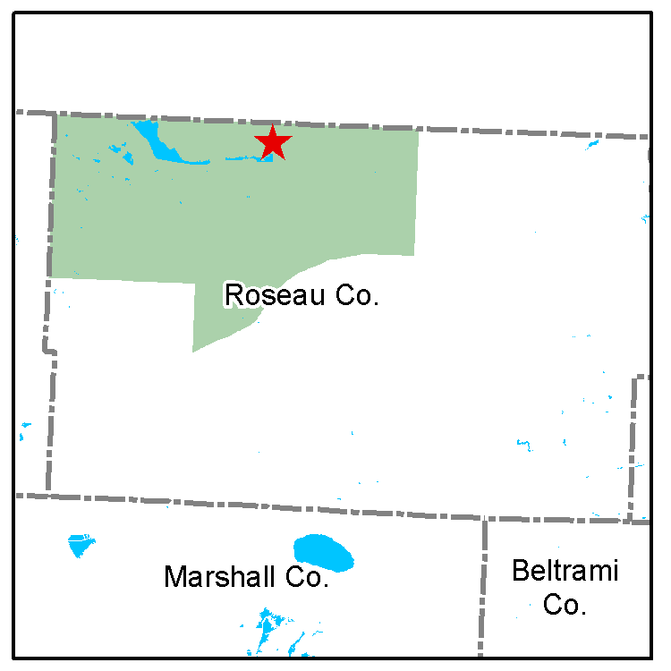 Roseau River WMA wildlife work area map