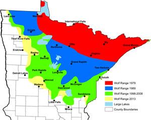 Minnesota's wolf range