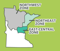 Minnesota's wolf management zones
