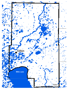 Map of Aitkin work area