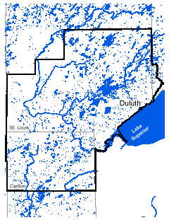Map of Duluth work area