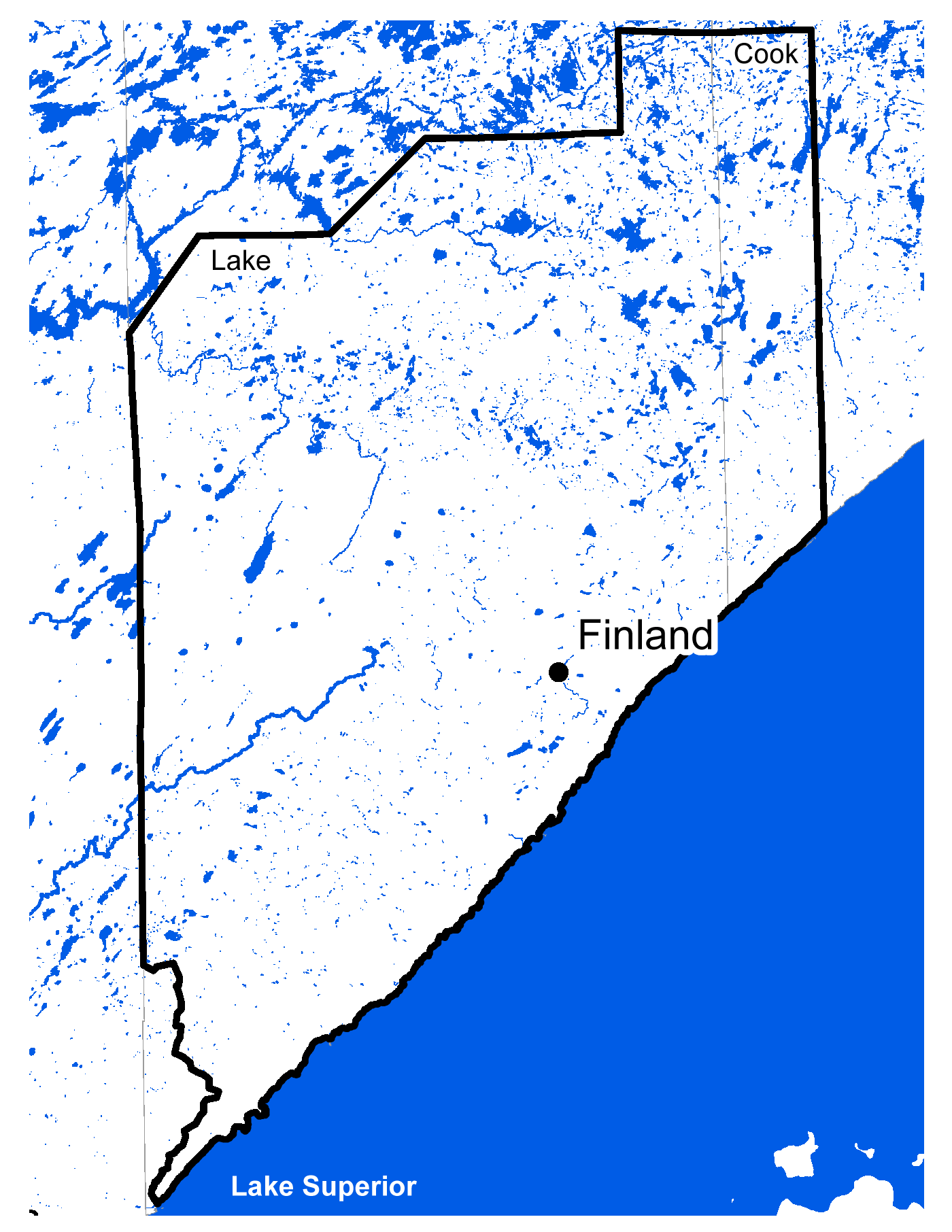 Map of Finland work area