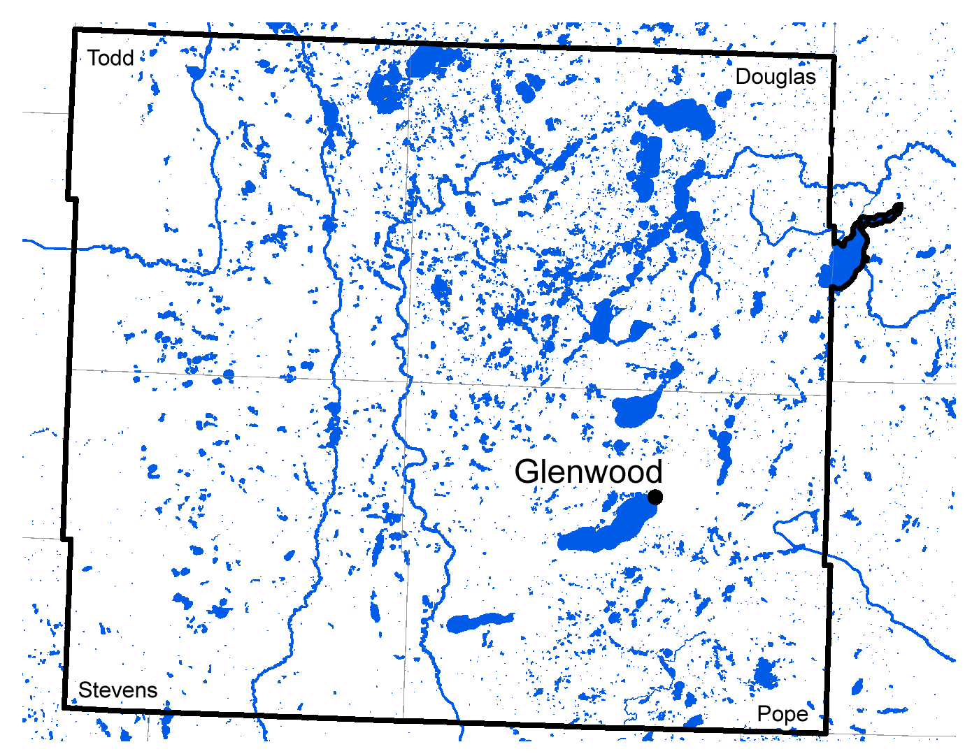 Map of Glenwood work area