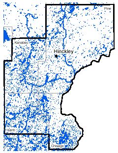 Map of Hinckley work area