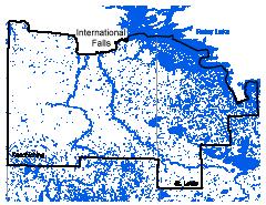 Map of International Falls work area