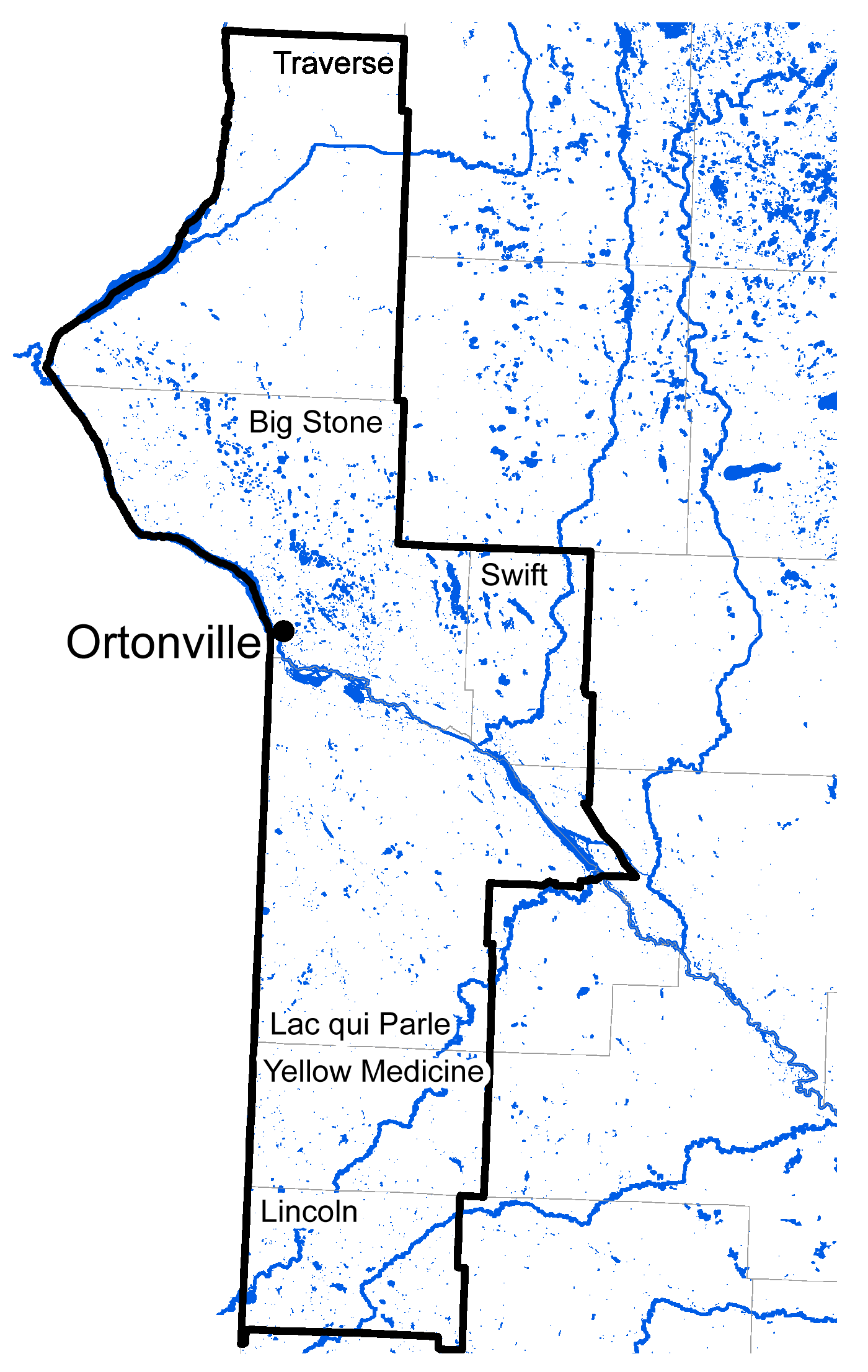 Map of Ortonville work area