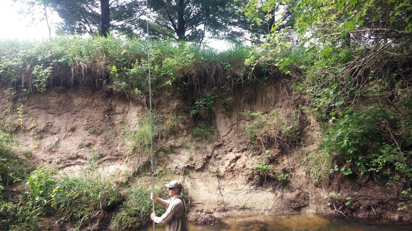 Fisheries staff monitors erosion and fish habitat degradation on Little Rock Creek.