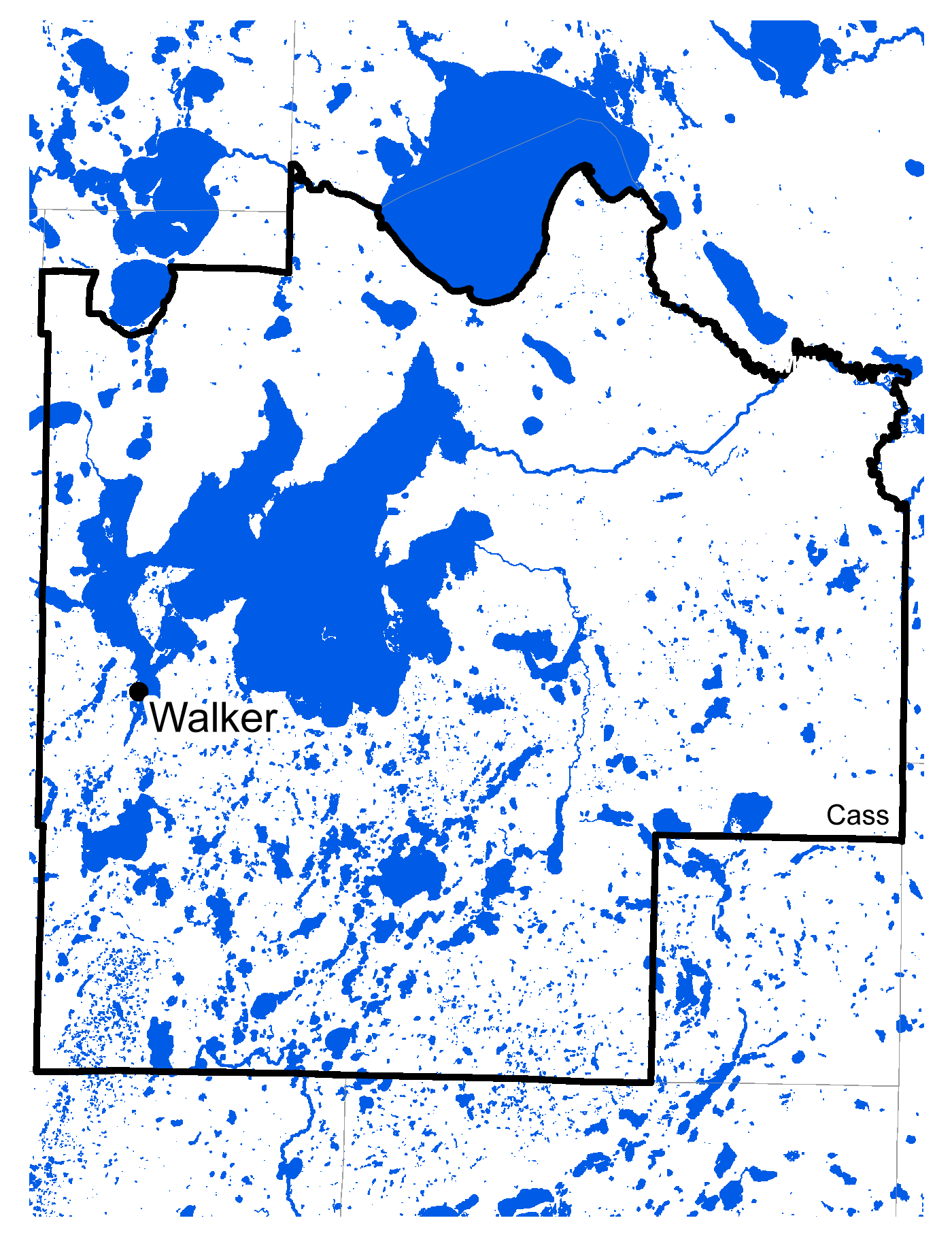 Map of Walker work area