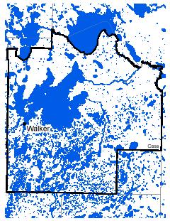 Map of Walker work area.