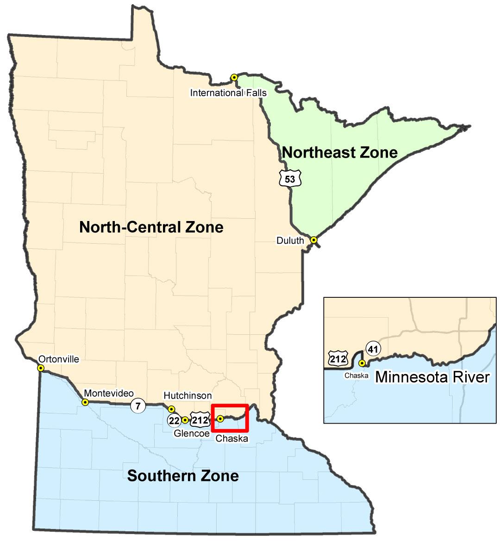 Minnesota's northern pike zones.