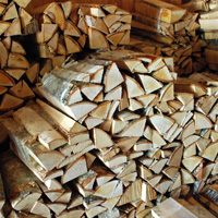photo: campfire wood in bundles