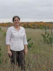 Misty Lemke stand in her field