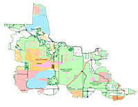 Northern Minnesota and Ontario Peatlands SFRMP map
