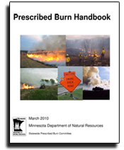 graphic: Cover of DNR Prescribed Burn Handbook