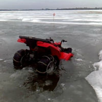 atv through the ice
