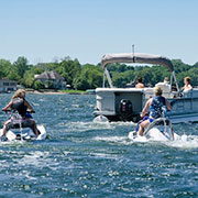 personal watercraft and pontoon