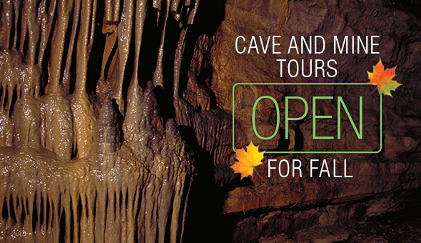 Cave and mine tours open this fall