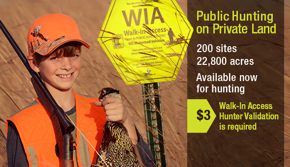 WIA - public hunting on private lands.