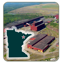 Project overview site plan - Mine Site, Processing Facility, and Utility Corridor