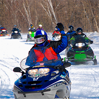 Snowmobilers on MN trails